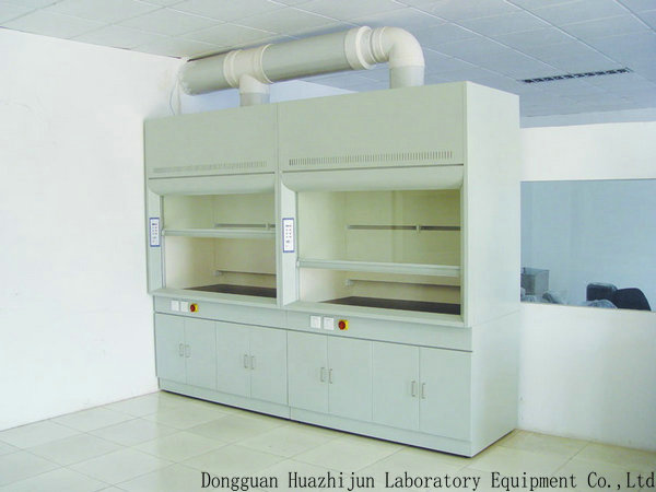 Low Noise Floor Mounted Fume Hood 1.2/1.5/1.8m Acid Resistant Countertops