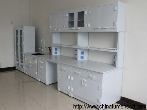 Lab Workbench With Wall Cabinet For Factory Lab Equipment