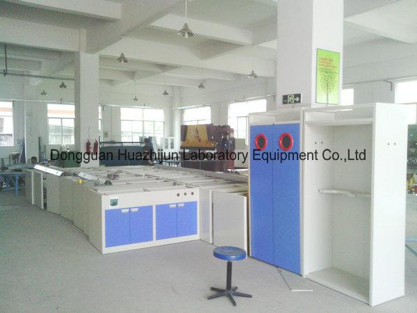 Chemistry Physics Steel Lab Furniture , Lab Bench Furniture With Reagent Shelf