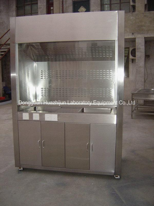 Biology / Physics Chemical Vent Hood Cupboard Stainless Steel Bench Tops