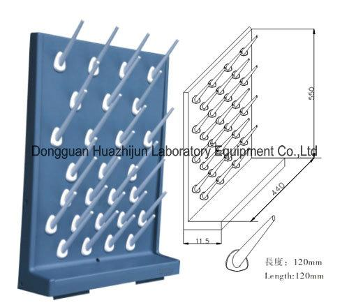 Multi Color Laboratory Pegboard Drying Rack Polypropylene Draining Rack