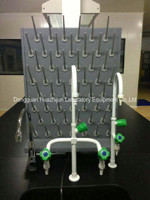 PP Material Laboratory Fittings , Wall / Desktop Mounted Lab Drying Rack