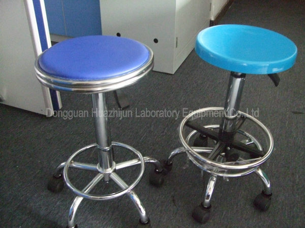 Pneumatic Adjustable Lab Stool Round Swivel Type Without