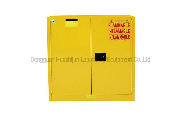Wall Mounted Flammable Safety Cabinet Three Steel Shelves For Liquids