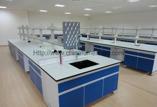 School Science Laboratory Furniture Scratch Resistant Steel Wood Material