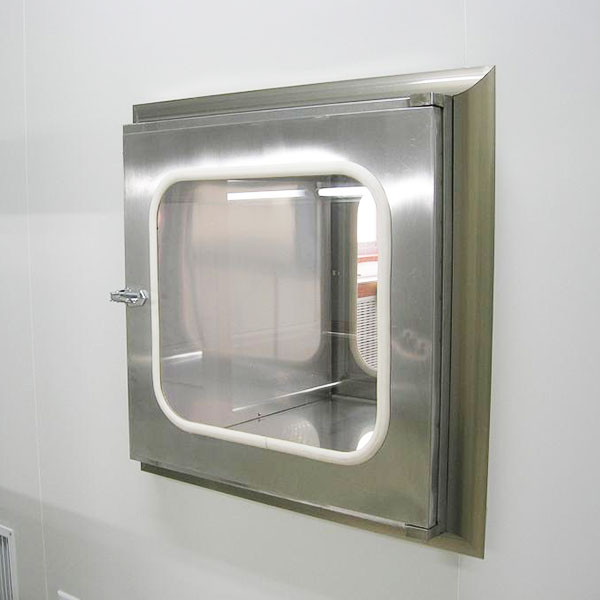 Stainless Steel Cleanroom Pass Through Box Mechanical Interlocking On Both Sides