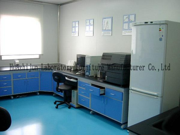 Solid Countertops Lab Tables And Furnitures Steel Structure For Science Experiments