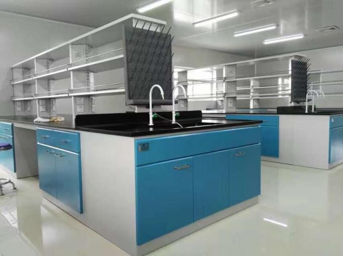 Steel Lab Bench Furniture For 12.7mm Solid Phenolic Worktop Acid And Alkali Resistant