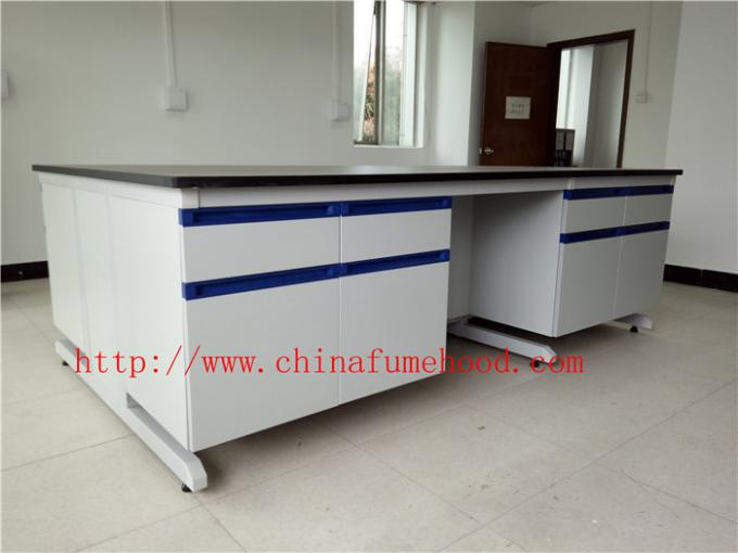 3750 mm Protecting  Corrosion / Acid / alkali  Steel Wood Lab Furniture / Science Lab Casework