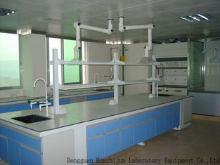 Acid Resistant Wood Lab Furniture Aluminum Alloy Handle 12.7mm Solid Bench Top