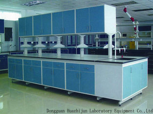Steel Wood Lab Workstation With Wood Cabinet For Laboratory Equipment Dealers