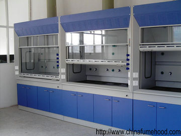 Chemical Steel Fume Hood , Anti Corrosion PP Blower Laboratory Ventilation Hoods