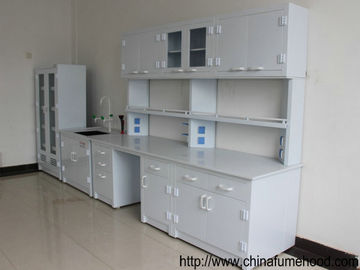 Professional Chemistry Lab Furniture , PP Lab Island Bench With Sink / Faucets