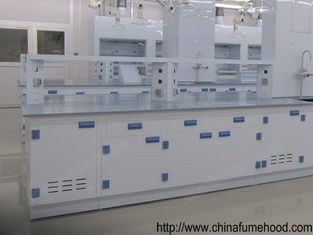 White Chemistry Lab Furniture Phenol Formaldehyde Resin Bench With PP Cabinet