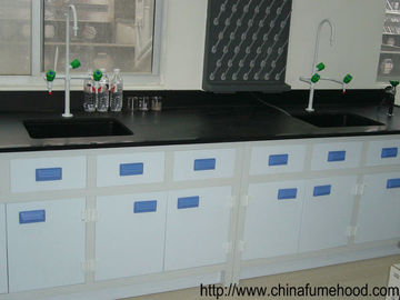 Ceramic Board Laboratory Workbench Furniture White PP Cabinet / Drawer