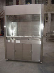 Stainless Steel Lab Fume Hood Cupboards Low Turbulence PVC Track 30W Lighting