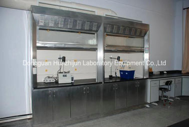 PVC Track Stainless Steel Fume Hood Phenolic Resin Worktops With Remote Control Valve
