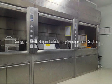 Laboratory Benchtop Fume Hood Mental Cabinet 200/315mm Collars SGS Certificated