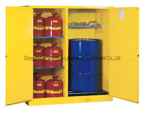 China Wall Mounted Flammable Safety Cabinet Three Steel Shelves For Liquids supplier
