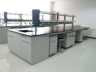 Lab Work Table With Sink Unit For Educational Institutions and Testing Center Steel Lab Furniture