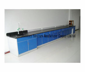 3000*750*850mm Steel Lab Furniture , Lab Bench Table Wall Workbench