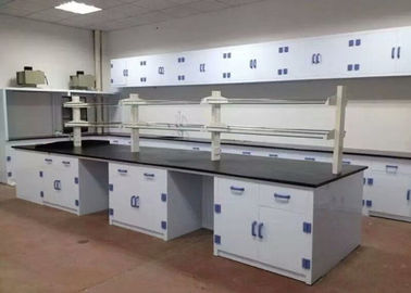 Seamless Welding Chemistry Lab Tables Polypropylene Counter Drawer / Handle