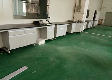 Wood Laboratory Working Table / Wall Bench For Chemical Factory