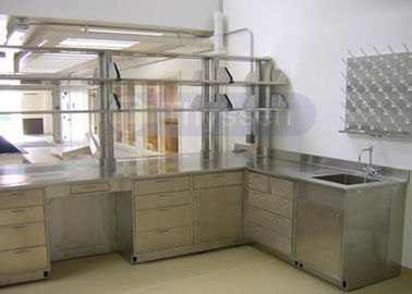 Full Stainless Steel Lab Furniture , Custom Made School Science Lab Cabinets