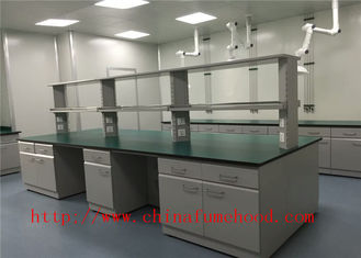 Full Steel Chemistry Lab Tables 12.7mm Solid Worktops SGS Certified
