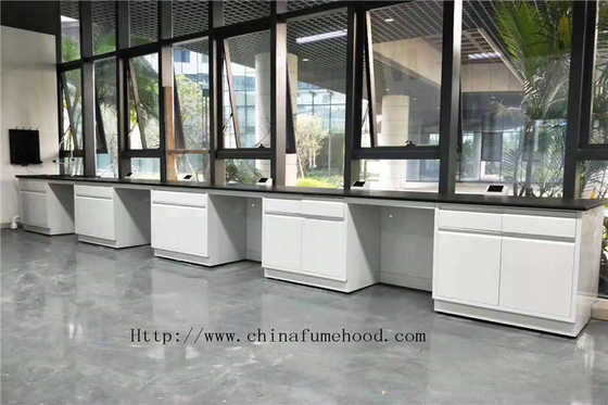 Floor Frame White  750 mm/ 1500 mm Depth  Full Steel Lab Furniture Science Laboratory Furniture