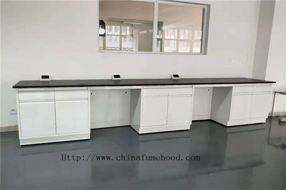 Floor Frame White  750 mm  Depth  Full Steel Lab Furniture Modular Lab Benches
