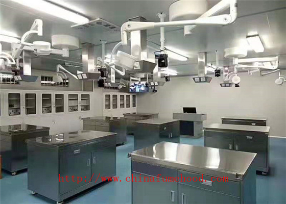 Custom Made L3000*D750*H900 MM Stainless Steel Lab Table Stainless Steel Lab Furniture In Our Factory