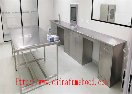 Customized Made Size Original Metal Color Lab Bench Furniture Stainless Steel Lab Furniture for  Hospital Laboratory
