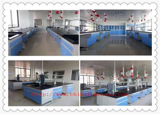 Resistance To Chemical Wood Lab Furniture 3000 mm Length  Blue  Color