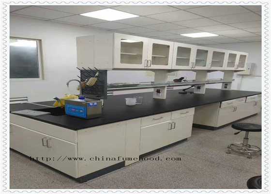 Custom Steel  Science Laboratory Furniture With Sink Wooden Case Package