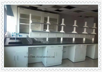 3000 mm Length  Chemistry Laboratory Table For School Fire - Resistant