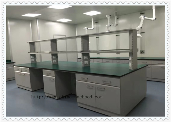 Customized Chemistry Lab Furniture / Laboratory Working Table With Water Cabinet