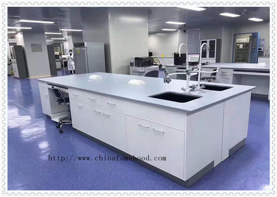 Chemical - Resistance Lab Bench Furniture Adjustable Shelf Beared Above 800 Kg