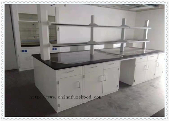Wear - Resistant Chemical Laboratory Furniture  With Cabinets Off - White Color