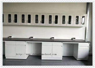 Eoxy Resin Top  Laboratory Desk Furniture  With Reagent Rack Resistance
