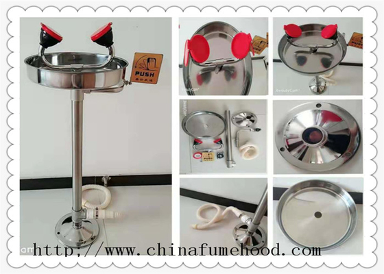 CE Approved Stainless Steel Floor Laboratory Fittings Emergency Eyewash Station