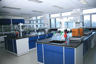 Customized Steel Lab Furniture ,  Laboratory Desk Furniture With Reagent Rack