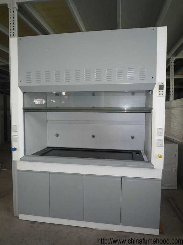 Waterproof Steel Fume Hood , Lab Exhaust Hood With Switches / Power Sockets