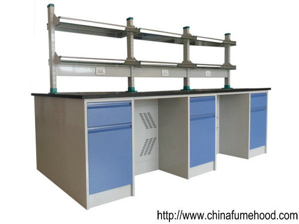 Easy Cleaning Steel Lab Furniture , Standard Socket Steel Lab Bench