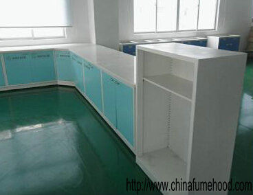 Hospital Laboratory Benches And Cabinets Steel Frame ISO Certificated