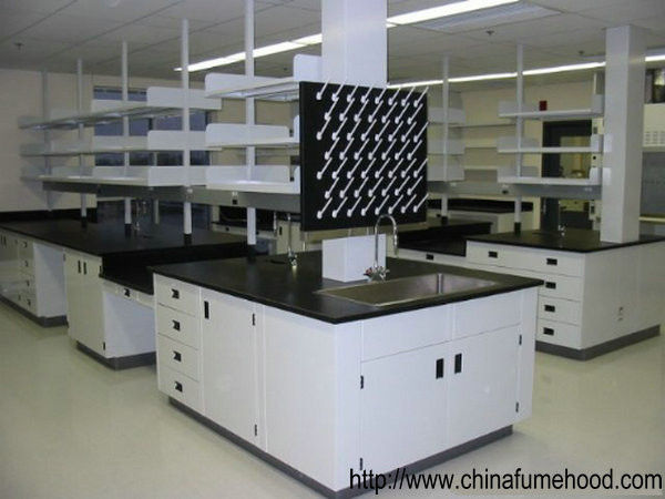 3000mm Steel Lab Furniture Desk Smooth C / H Frames With Strong Loading Capacity