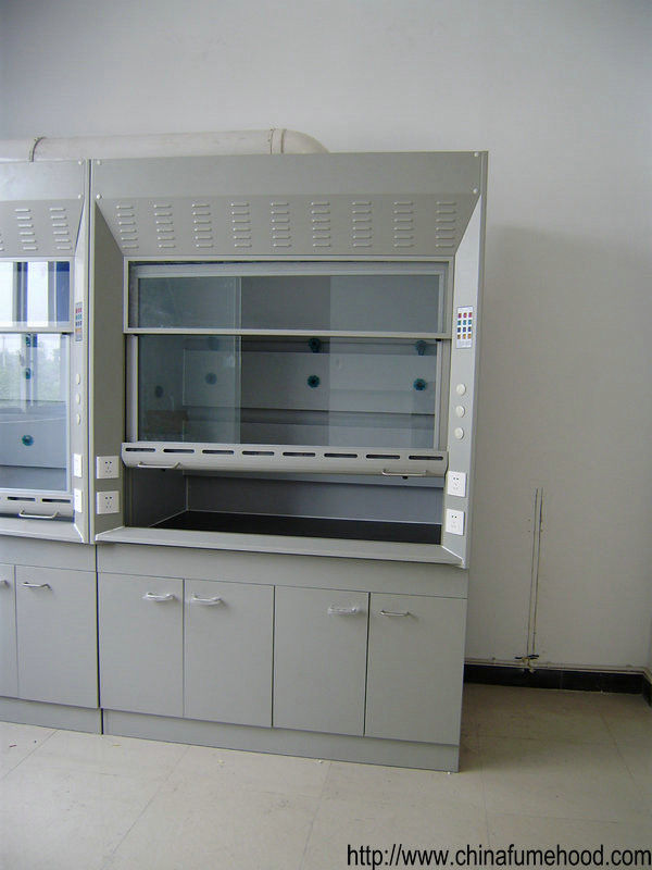 CE Certified Ducted Fume Hood Cold Rolled Steel Material 1.2/1.5/1.8M Length