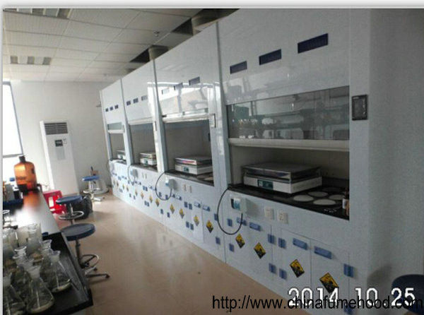 Biology Lab PP Fume Hood Ventilation Cupboard With Antiseptic Cabinet