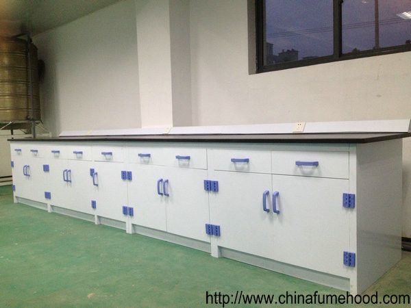 PP Structure Chemistry Lab Furniture Anti - Corrosion Casework 1500*850mm