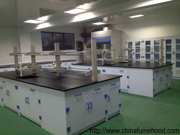 Floor Mounting Laboratory Working Table Pp Material For